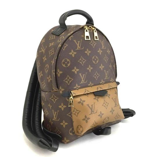 Louis Vuitton Leather Canvas Palm Springs Backpack Image 1