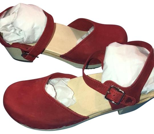 Sandgrens Clogs Red Mules Image 0