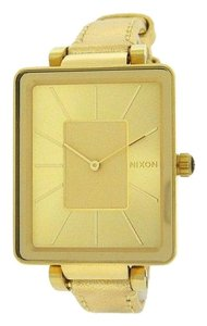 Nixon A273-502 Tahlia Women's Gold Leather Bracelet With Gold Dial Watch