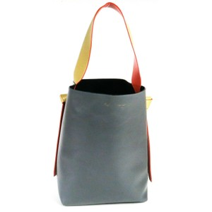 Céline Tote in Blue Grey Tan Red