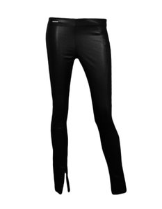 Polo Ralph Lauren Leather Leggings Skinny Pants Black