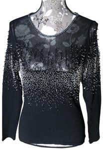 Dolce Cabo Top Black/glass beads