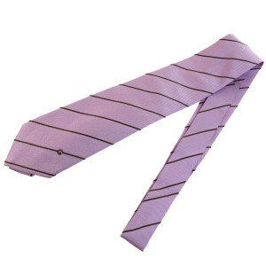 Gucci Authentic GUCCI Logos Men's Neck Tie 100% Silk Purple Made In Italy