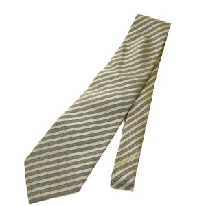 Gucci Authentic GUCCI Logos Men's Neck Tie 100% Silk Beige Made In Italy