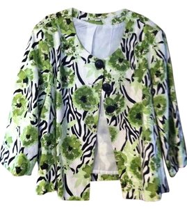 Cato woman Green flower Jacket