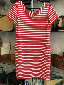 Saint James short dress Red, White Striped Stretchy France No Wrinkle Travel on Tradesy