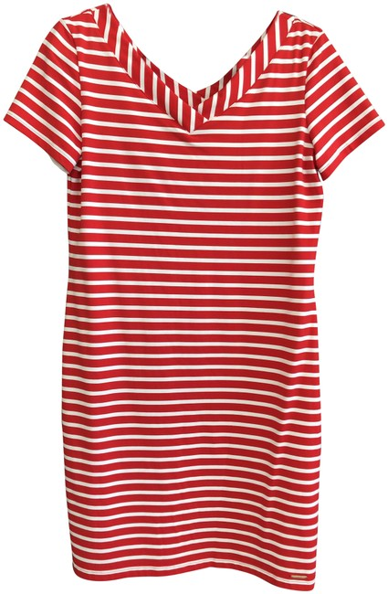 Preload https://img-static.tradesy.com/item/26061417/saint-james-red-white-striped-stretchy-sleeve-mid-length-short-casual-dress-size-8-m-0-1-650-650.jpg