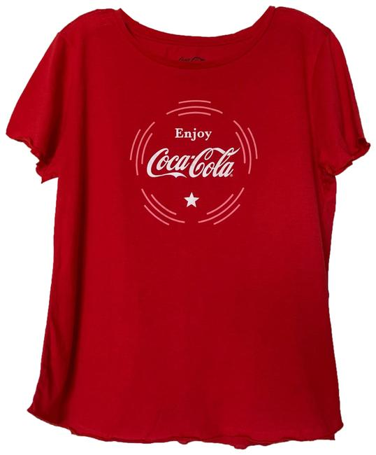 Item - Red Graphic Tee Shirt Size 16 (XL, Plus 0x)