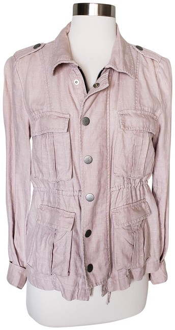 Free People Beige Lightweight Linen Zip Up Jacket Size 0 (XS) Free People Beige Lightweight Linen Zip Up Jacket Size 0 (XS) Image 1