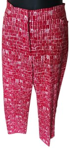 Susan Graver Straight Pants Red/ White