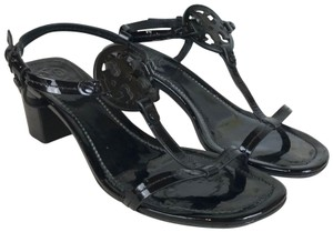 Tory Burch Patent Leather Miller Black Sandals