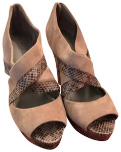Tory Burch Taupe Platforms