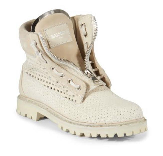 Item - Beige Women's Natural 20mm Tundra Perforated Suede Boots/Booties Size EU 37 (Approx. US 7) Regular (M, B)