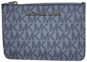 Michael Kors Jet Set Travel Leather Coin Pouch Mini Wallet Card Case Keychain