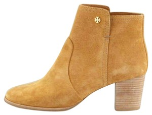 Tory Burch Bootie Suede Classic Caramel Boots
