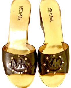 Michael Kors Black/Gold Wedges