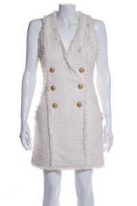 Chanel CHANEL Cream Wool Blend Skirt Suit