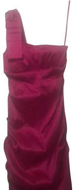 Item - Fushia Pink One Shoulder Mid-length Formal Dress Size 4 (S)