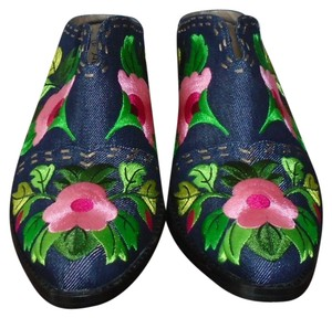 J. Reneé Embroidered Embroidered Floral Print Multi Mules