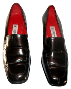 Céline Loafers Leather Black Mules