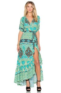 Mixed colors: mint, teal, aqua, beige Maxi Dress by Spell & the Gypsy Collective
