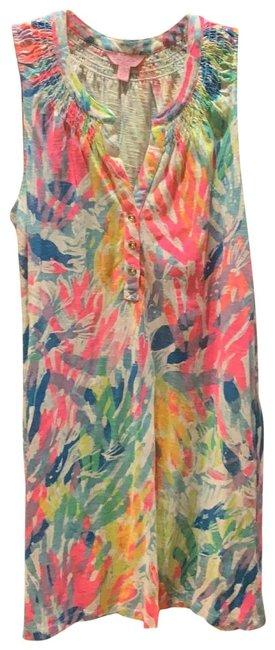 Item - Multi Colored Short Casual Dress Size 4 (S)