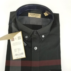 Burberry Charcoal Mens Thornaby Trim Fit Shirt