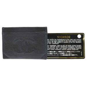 Chanel Black Caviar Leather Card Case