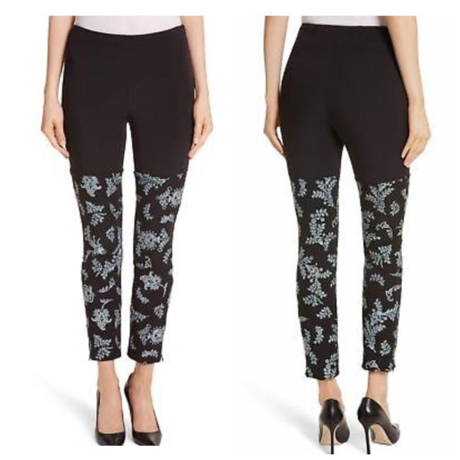 Item - Black Embroidered Pants Size 4 (S, 27)
