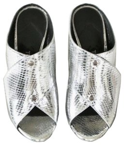 Tom Ford Silver/metallic Mules