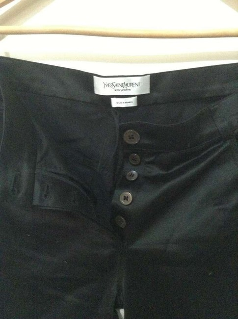 Saint Laurent Vintage Yves Straight Pants Black