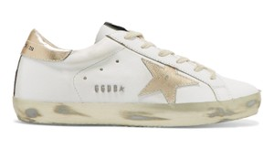 Golden Goose Deluxe Brand Sneakers Star Super Star Flats White gold Athletic