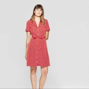 A New Day short dress Red White Women Midi on Tradesy