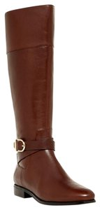 Cole Haan Brown Leather Tall Riding Buckle Bronw Boots
