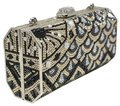 Judith Leiber Cascade Crystal Handmade Couture Multi-Color Clutch