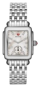 Michele Deco 16 Mid Stainless Steel Mother Of Pearl Diamond Mww06v000002