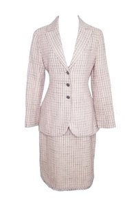 Chanel Chanel Pink Wool Spring Suit