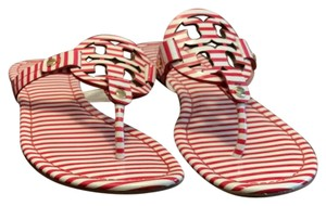 Tory Burch Red & White Sandals
