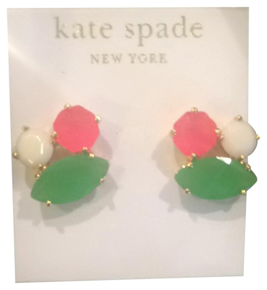 Kate Spade Pink Green And White Earrings Tradesy