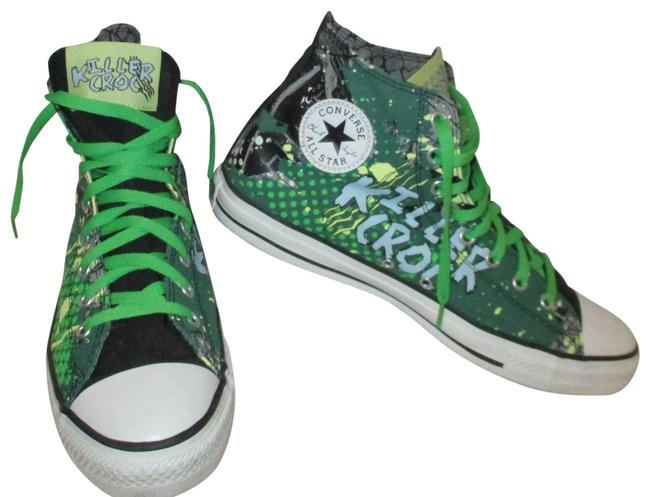 CONVERSE CHUCK TAYLOR ALL STAR HIGH TOP CAMO ARMY GREEN & BLACK *SIZEs 8 To 13*