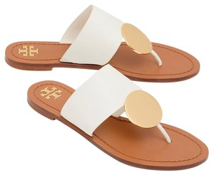 Tory Burch ivory/gold Sandals