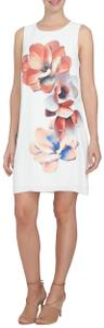 CeCe by Cynthia Steffe Floral Sleeveless Jewel Neck Print Lined Dress