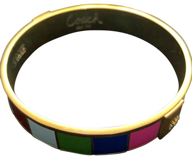 Item - Multi Colored with Gold Colored Metal Bracelet