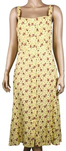 Reformation short dress Yellow Persimmon Floral A-line on Tradesy