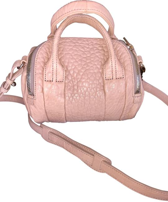 Item - Mini Rockie Pebbled with Gold Blush Lambskin Leather Cross Body Bag