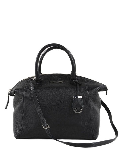 Item - Riley Large Top Zip (New Tags) Black with Silver Hardware Leather Satchel