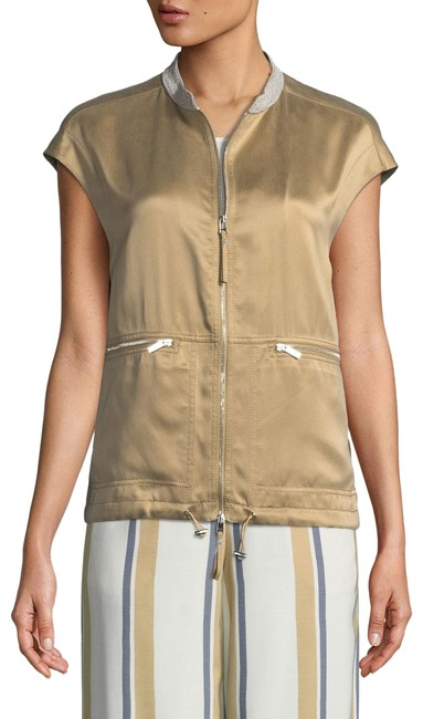 Item - Gold with Tag Tonya Artistry Silk Chain Detail Vest Size 6 (S)
