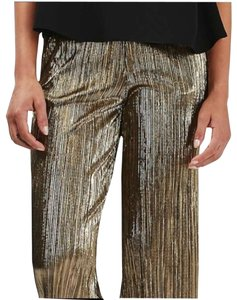 Torn by Ronny Kobo Vertical Ribs Elasticated Waist High Rise Trouser/Wide Leg Jeans