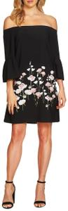 CeCe by Cynthia Steffe Floral Off The Shoulder Elastic Ruffle Lined Dress