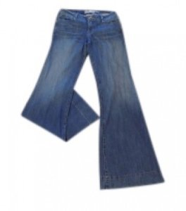 Level 99 Trouser/Wide Leg Jeans-Light Wash